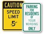 All Semi-Custom Traffic Sign Templates