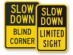 Blind Corner Signs