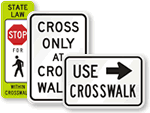 Crosswalk and Sidewalk Signs