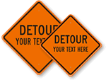 Custom Detour Signs