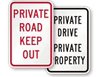 Custom Private Road Signs