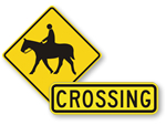 Horse Crossing Signs
