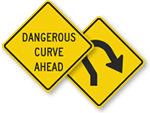 Curve Ahead Signs