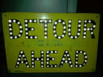 Old Detour Signs