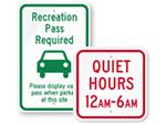 Park Traffic Signs