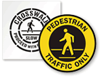 Pedestrian Floor Signs