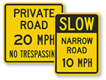 Private Road Speed Limit Signs