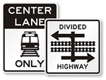 Rail Road Advance Signs