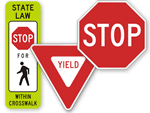 Regulatory Stop & Yield Signs