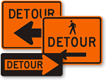 Detour Signs