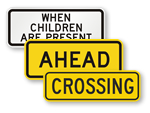 Schools and Crosswalks Supplemental Signs