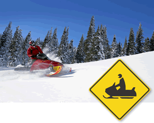 Snowmobile Signs