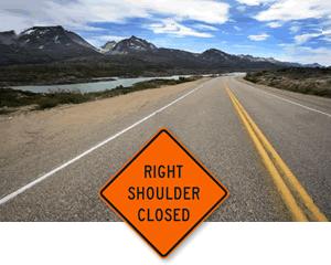 MUTCD Soft Shoulder   Right Shoulder Closed Signs