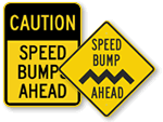 Safety Speed Bump Signs