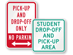 Student Drop-Off Signs