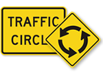 Traffic Circle Signs