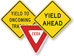 Yield Ahead Signs