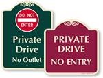 Designer Do Not Enter Signs