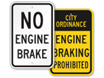 No Engine Braking Signs