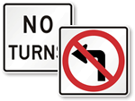 No Turns Signs