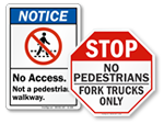 Not a Pedestrian Walkway
