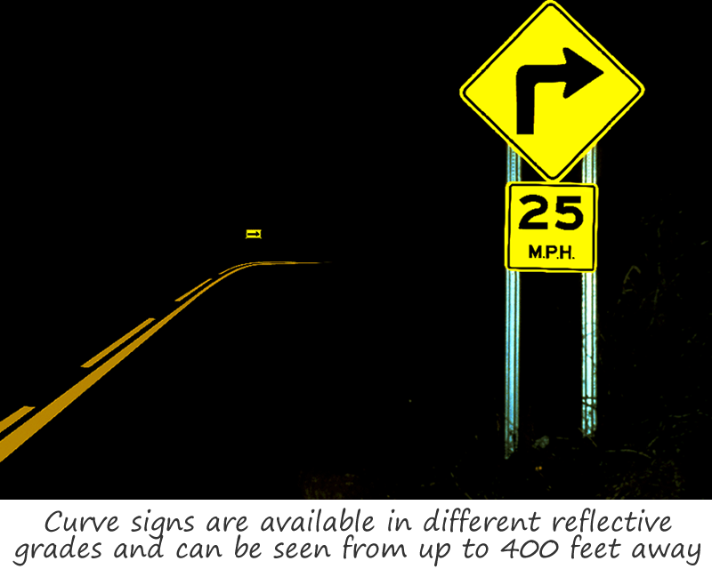 Reflective Curve Signs