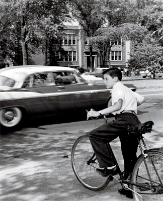1959 Entering Traffic on Bike