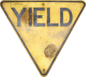 Yellow Yield Sign