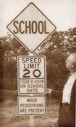 Speed Limit Sign 1959