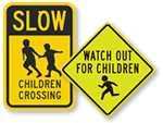 Children Crossing Signs