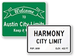 City Limit Signs