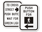 Crosswalk Instruction Signs