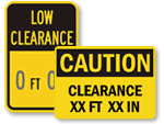 Custom Clearance Signs