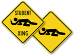 Funny Student Crossing Signs