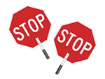 Hand Held Stop Signs