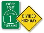 Highway Road Signs