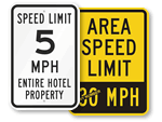 Speed Limit Signs by Location
