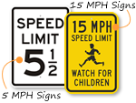 Speed Limit Signs by MPH