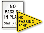 No Passing Signs