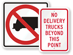 No Truck Signs