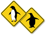 Penguin Crossing Signs