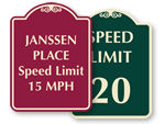 Private Community Speed Limit Signs