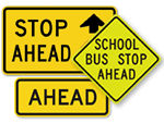 School Ahead Signs