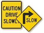 Slow Traffic Signs - All Signs