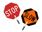 STOP - SLOW Paddles Sign