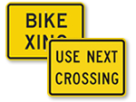 Supplemental Traffic Crossing Signs