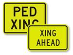 Supplemental School Crossing Signs
