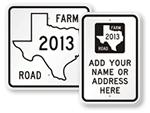 Texax Road Signs