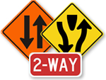 Two Way Traffic Signs