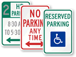 MUTCD Urban Parking, Stopping and Parking Prohibition Signs